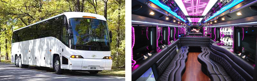 50 passenger party bus pearl