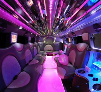 Cadillac Escalade Miami limo interior