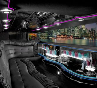 Chrysler 300 Miami limo interior