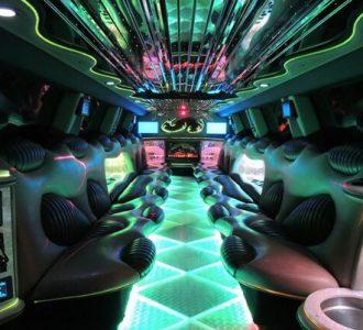 Hummer limo Miami interior