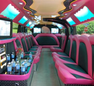 miami pink hummer limousine rental
