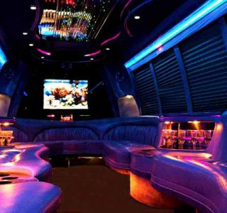 18 passenger party bus rental Hollywood
