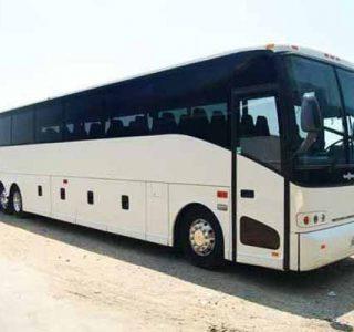 50 passenger charter bus Sunrise
