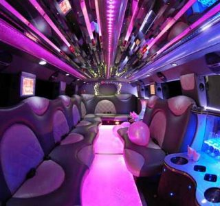 Cadillac Escalade Sunrise limo interior