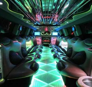 Hummer limo Coral Gables interior