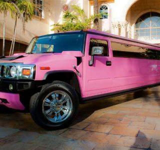 pink hummer limo service Doral